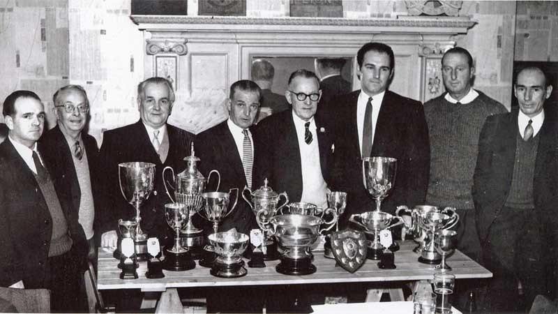 Members with their trophies